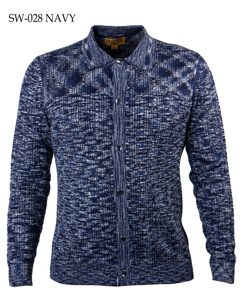 Prestige Full Button Cable Texture Sweater