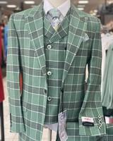 Tiglio Window Plaid Vested Suit