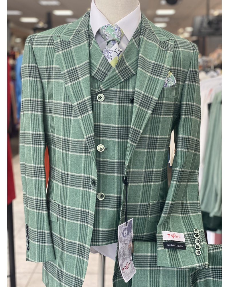 Tiglio Window Plaid Vested Suit