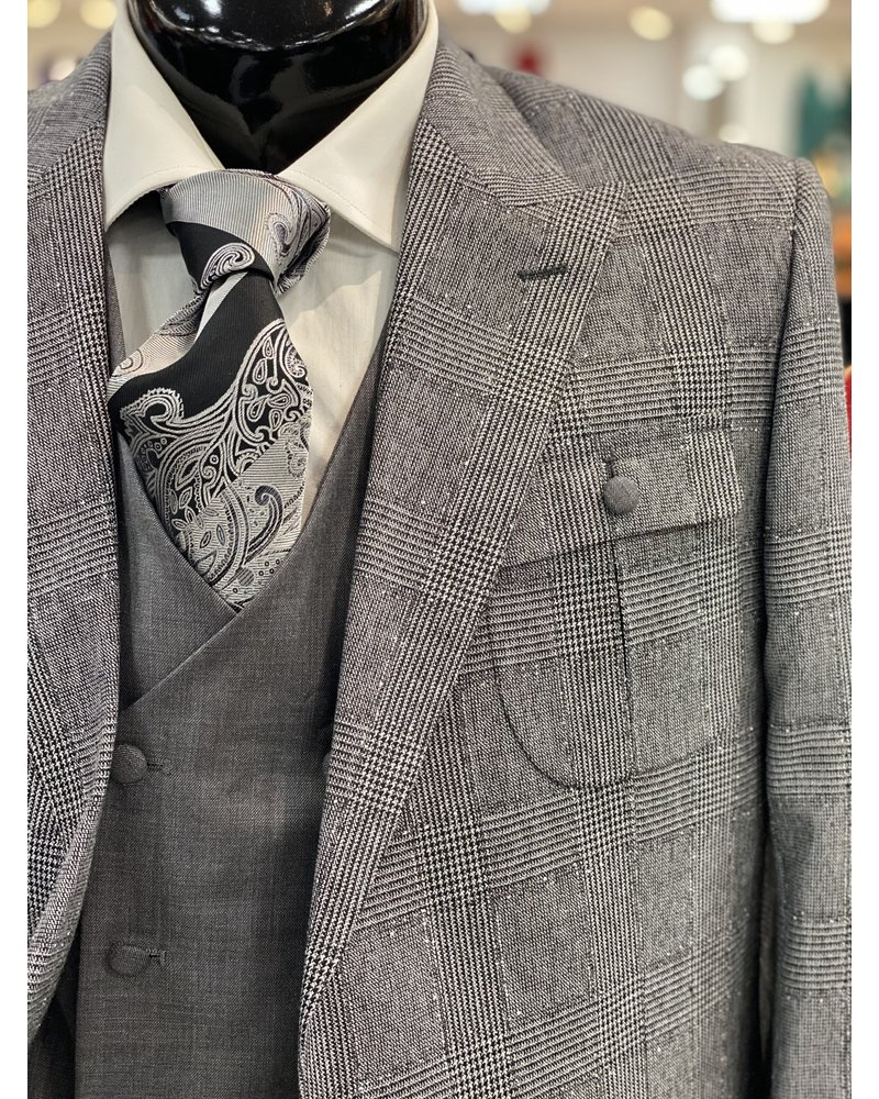 Steven Land Safari Glen Plaid Suit