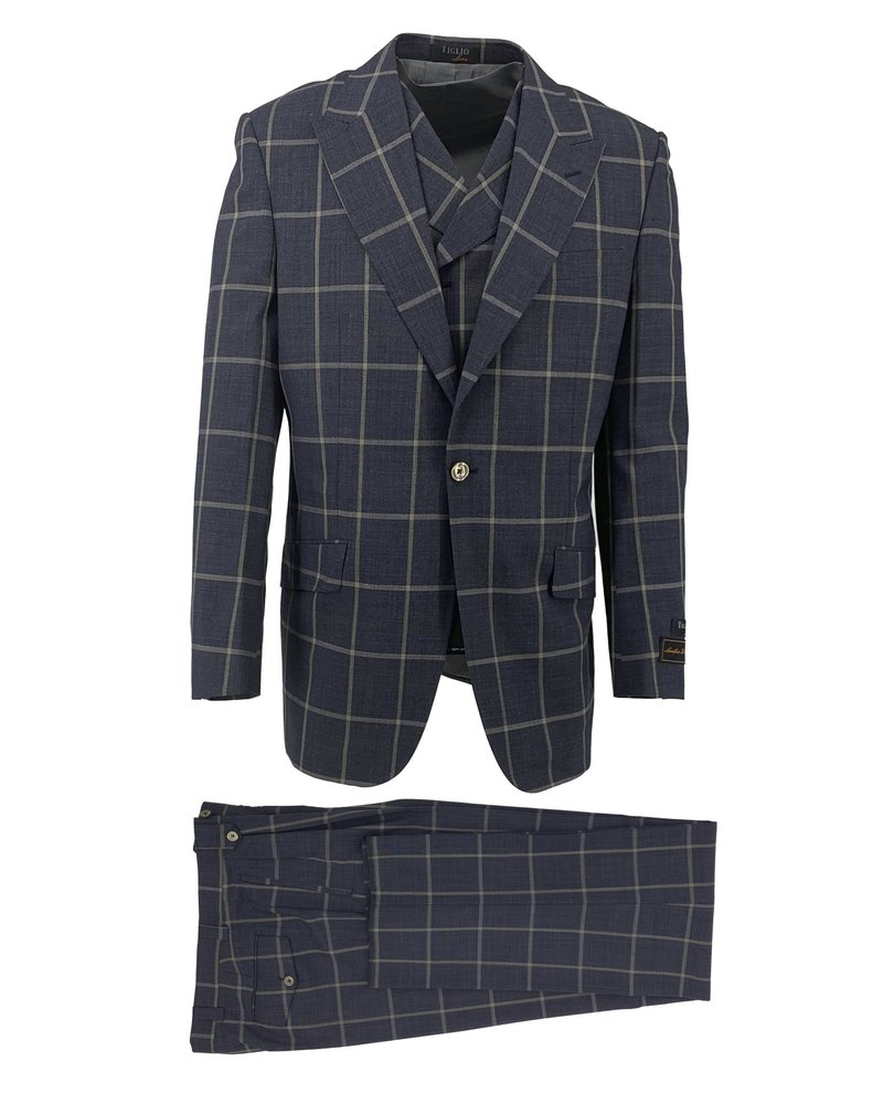 Tiglio Window Paine Vested Suit