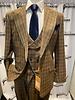Steven Land Plaid Vested Suit