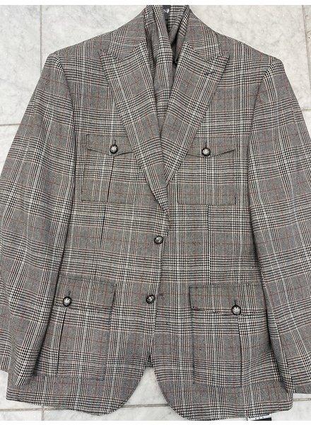 Lanzino Safari Glen Plaid Suit