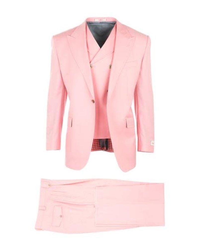 Tiglio Rosso Solid Vested Suit