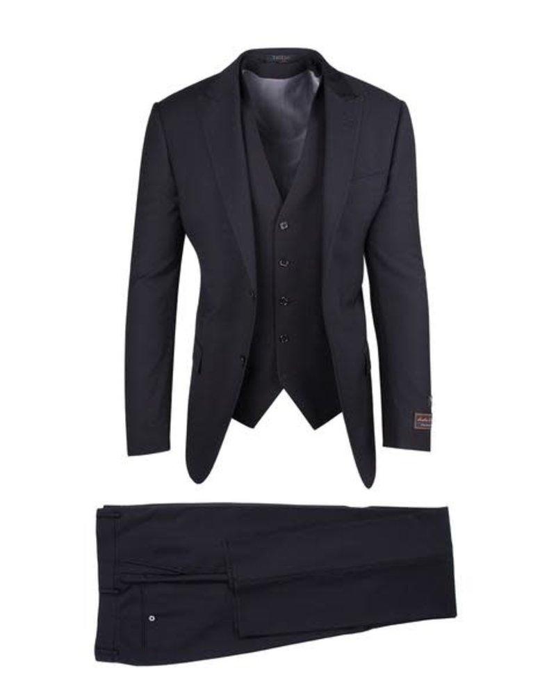 Tiglio Lux Gaberdine Vested Suit (Tufo)