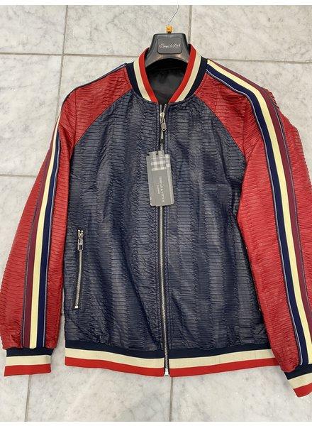 Lanzino Pleated Baseball Jacket