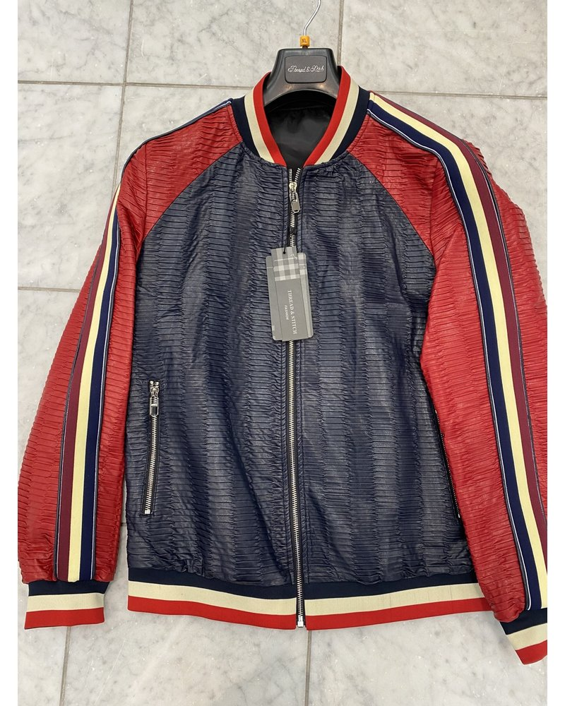 Lanzino Pleated Baseball Jacket