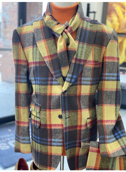 Thread & Stitch Wool Window Plaid Suit