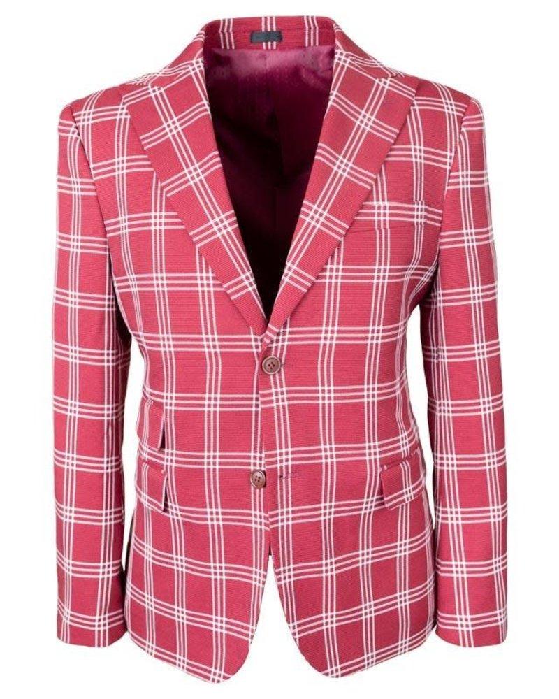 Stacy Adams Plaid Check Suit W/ Scoop Vest