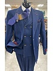 Denim Pic Stich Vested Suit