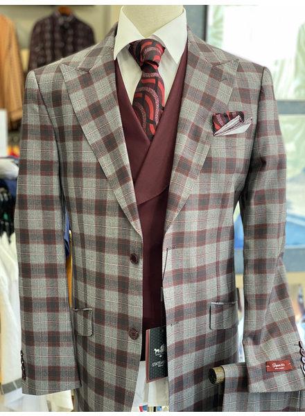 Plaid Check Vested Compose Suit