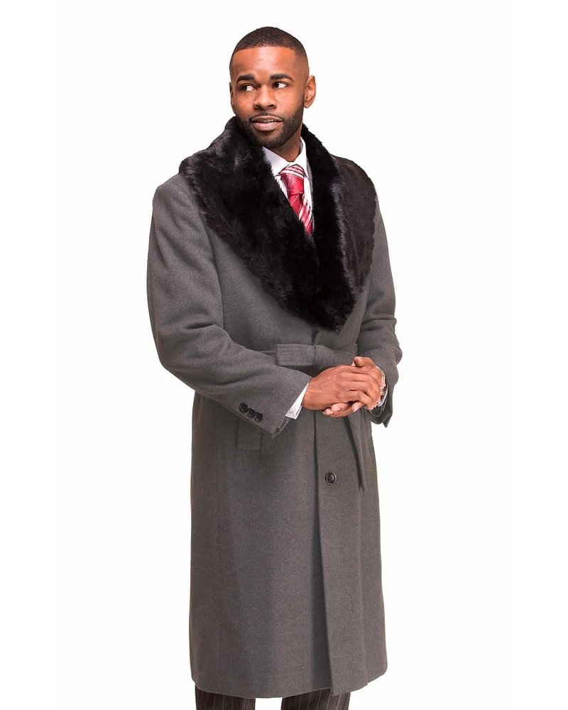 Vitali Top Coat W/Removable Fur Collar