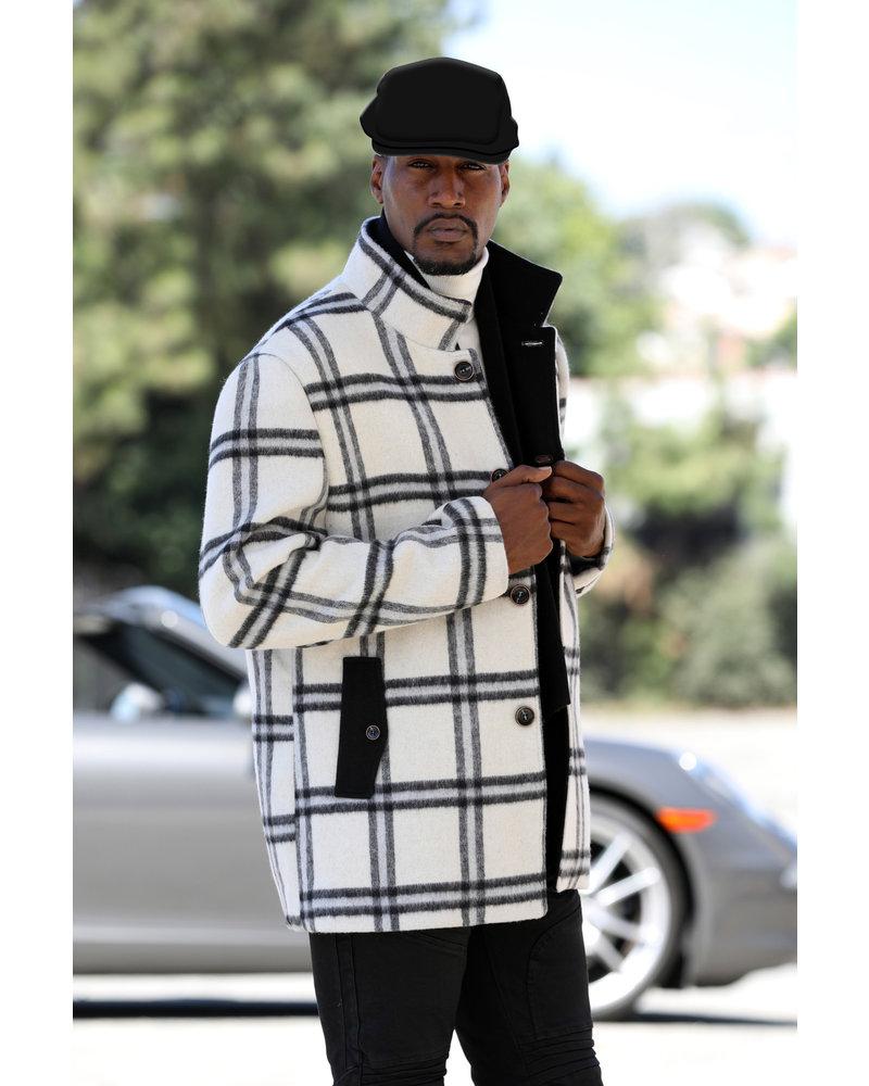Manzini Fancy Wool Blend Jacket W/Hat