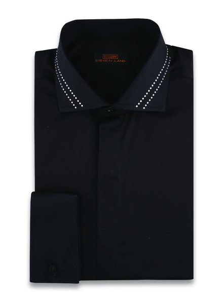 Stevenland Crystal Collar Dress Shirt