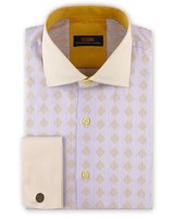 Steven Land Diamond Stripe Dress Shirt