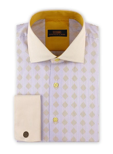 Steven Land Diamond Stripe Dress Shirt