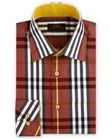 Steven Land British Plaid Dress Shirt