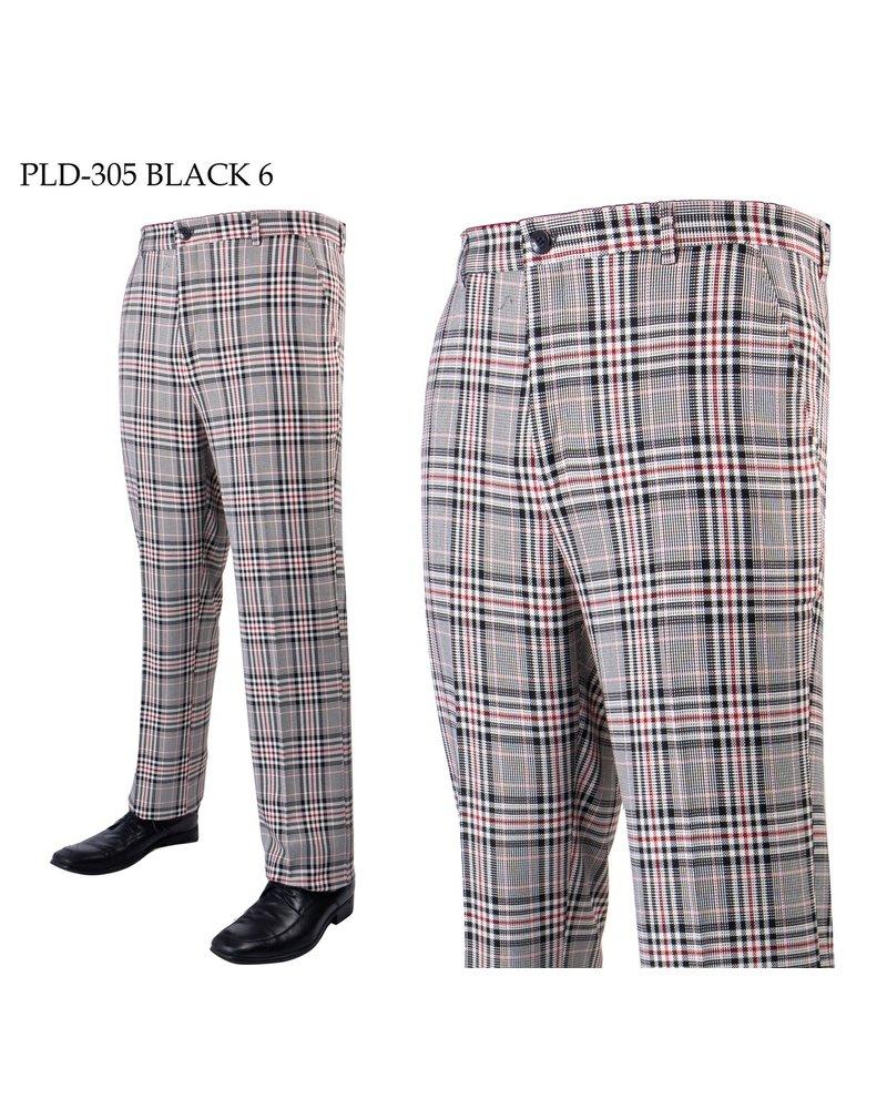 Prestige Flat Front Plaid Pant