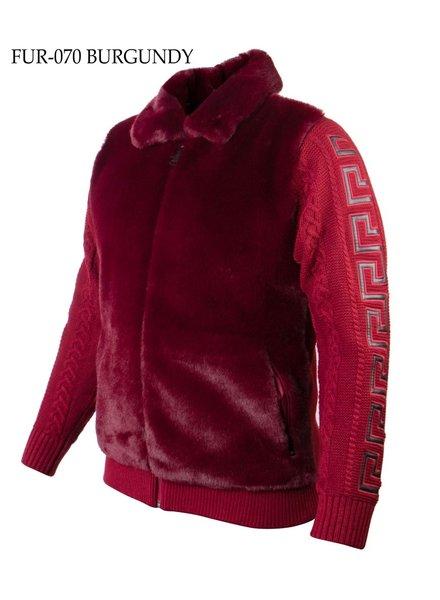 Prestige Full Zip Fur Knit Sweater