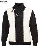 Prestige Fur Collar Cable Knit Sweater