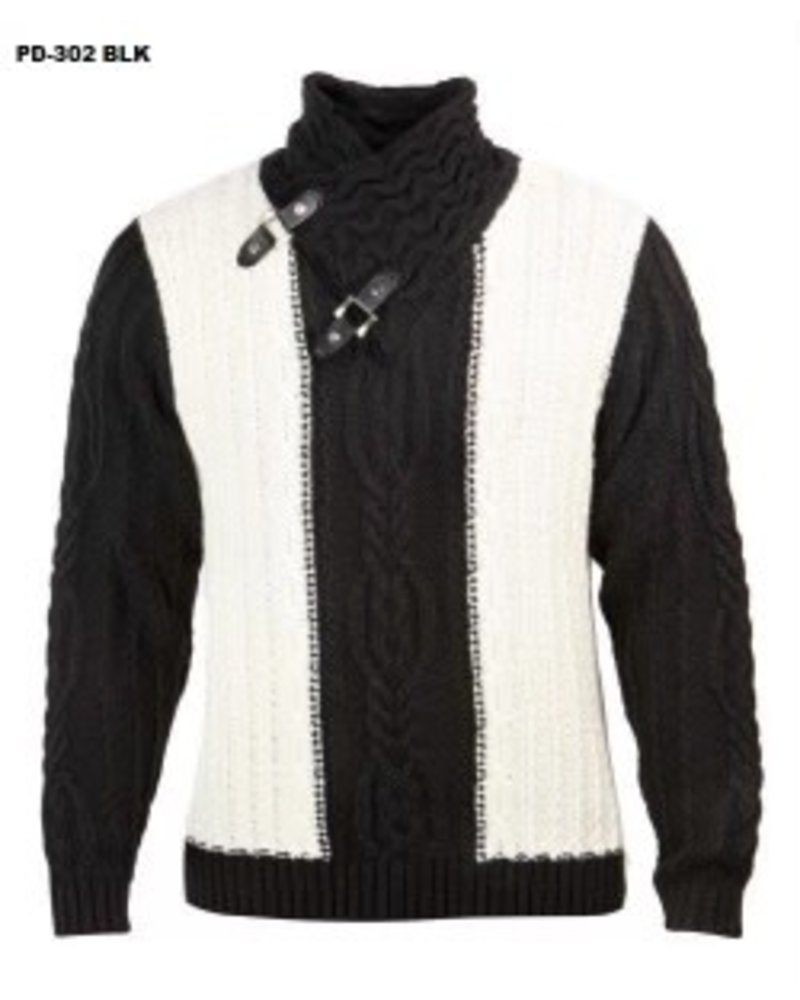 Prestige Fur Collar Cable Knit Sweater
