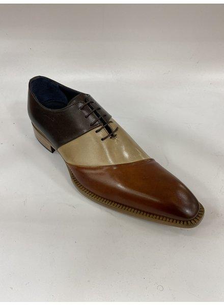 Duca Tri Tone Leather Shoe