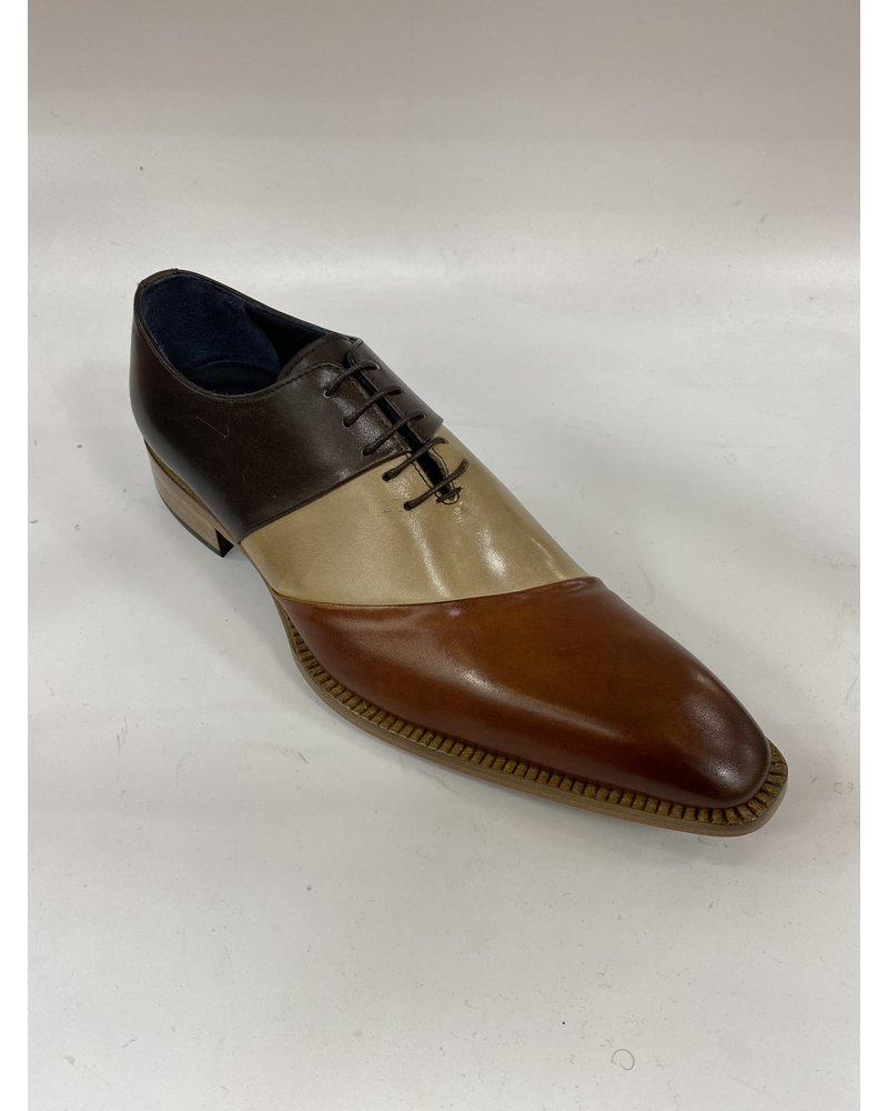 Duca Tri Tone Leather Shoe
