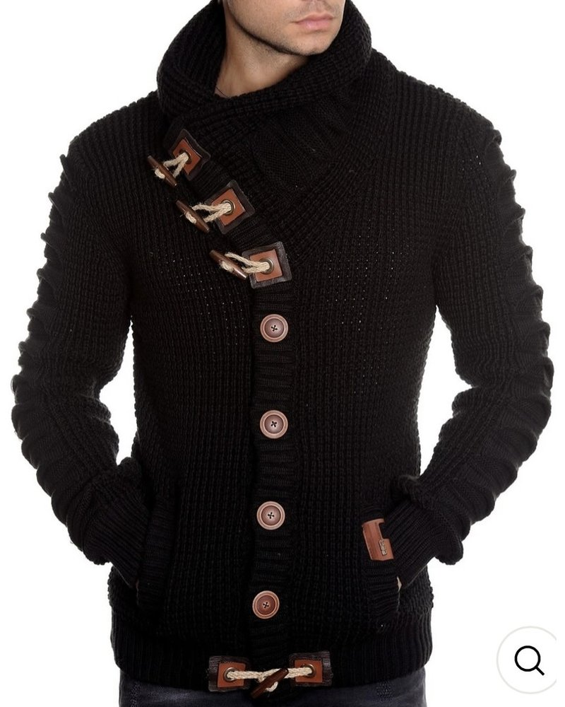 Black Edition Button Up Sweater