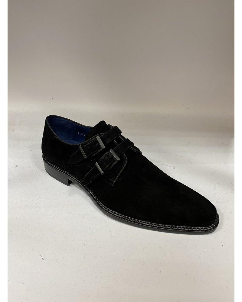 Mezlan Suade Double Monk Strap Shoe (Meier)