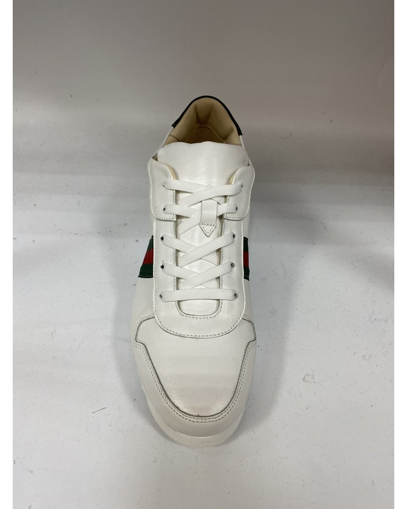Emilio Franco Leather Web Sneaker