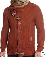Black Edition Sweater W/Fur Collar