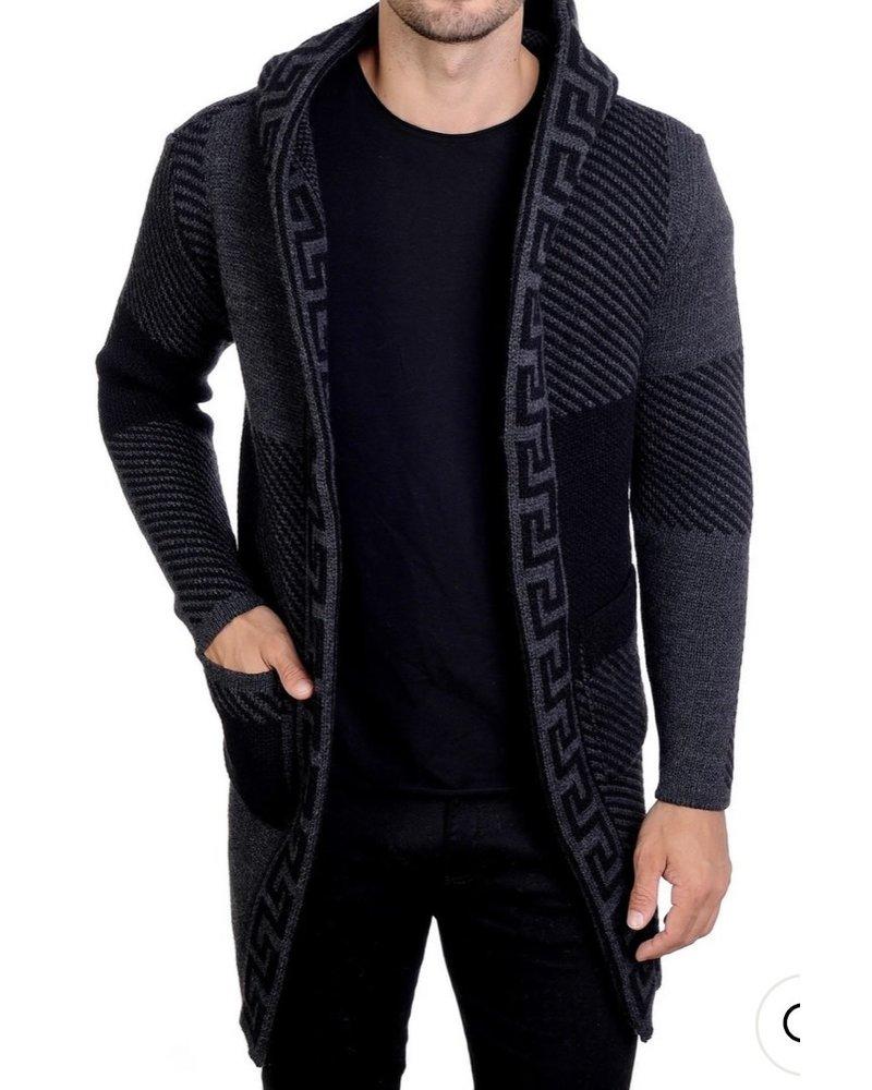Black Edition Greek Key Cardigan