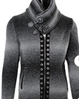 Black Edition Full Zip Sweater (Slim Fit)