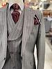 Tiglio Vested Gaberdine Pinstripe Suit