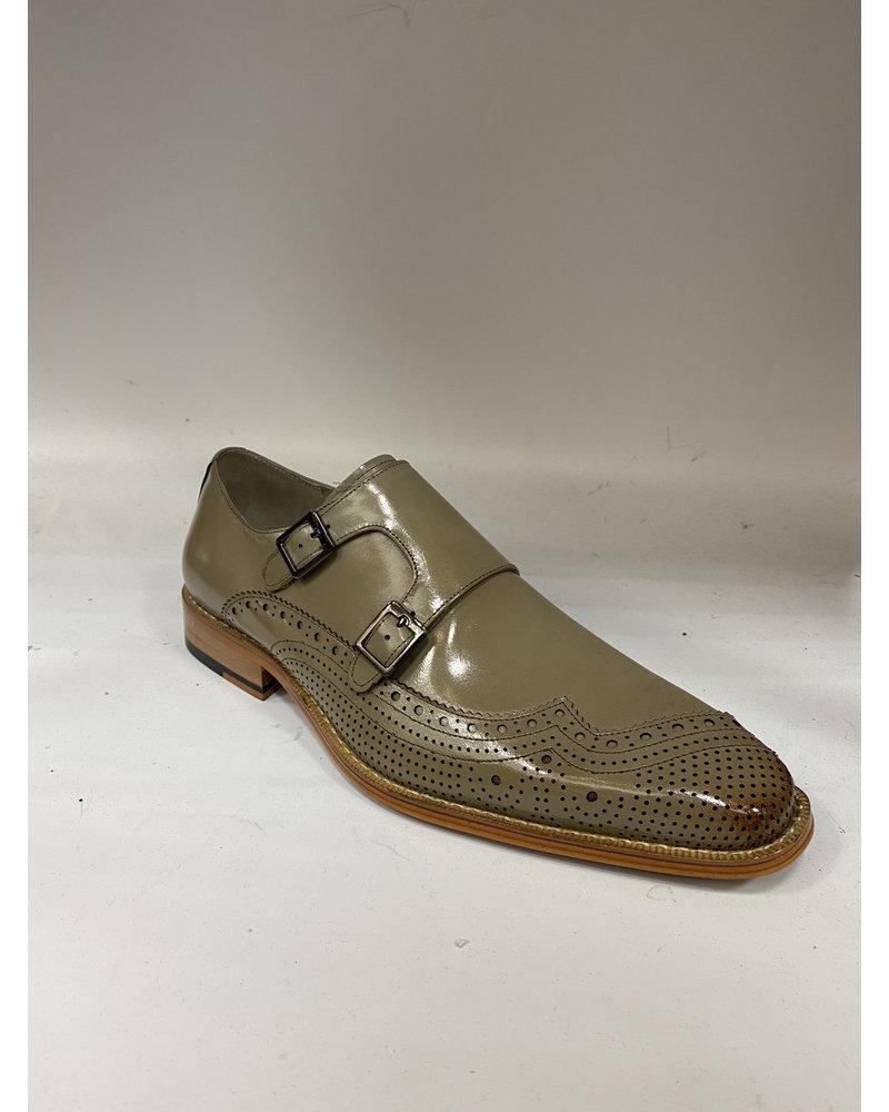 Giovanni Double Monk Strap Leather Shoe