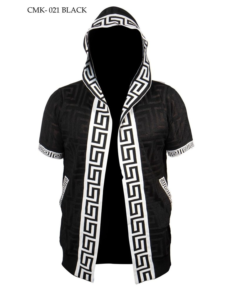 Prestige Hooded Greek Key Lace Cardigan