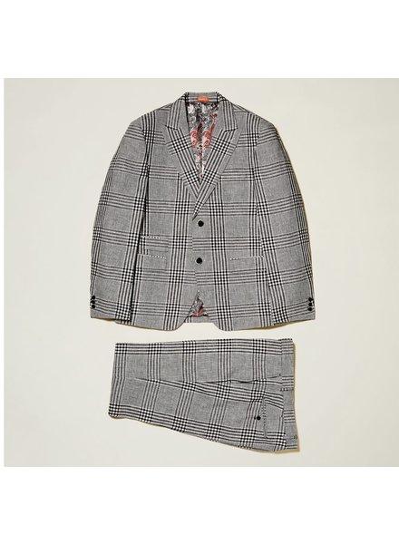 Inserch Glen Plaid Linen Suit