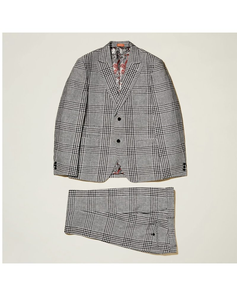 Inserch Glen Plaid Linen Suit