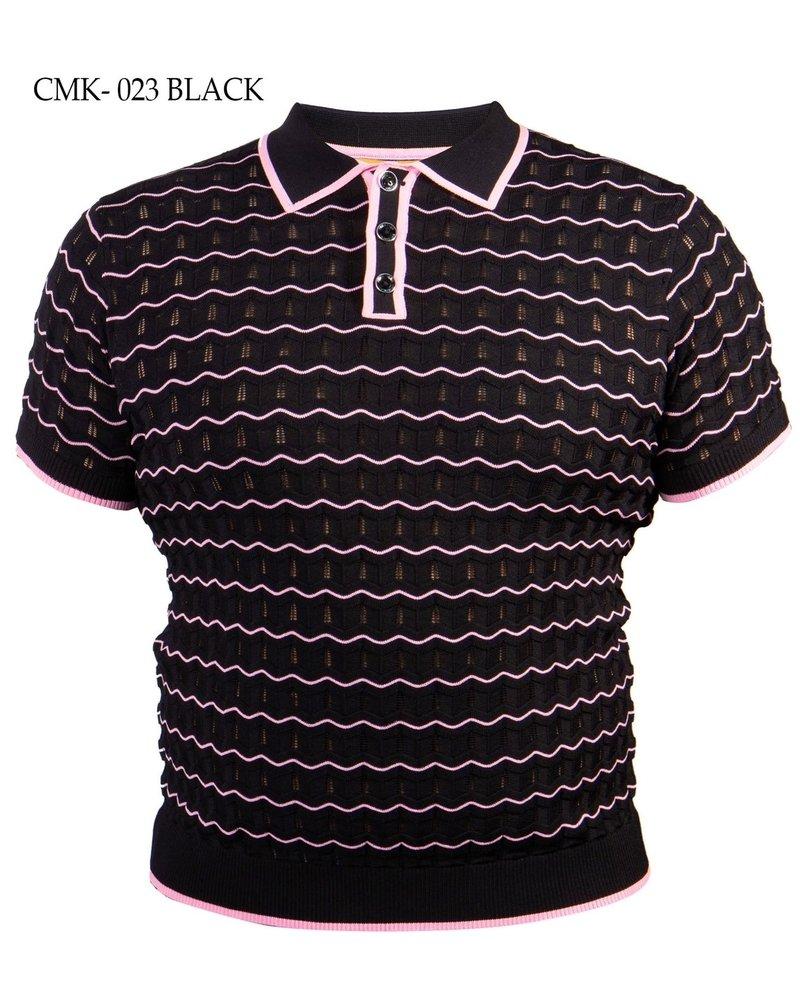 Prestige S/S Wave Polo Knit