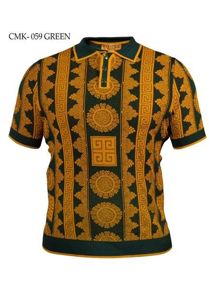 Prestige Polo Jaqured Knit