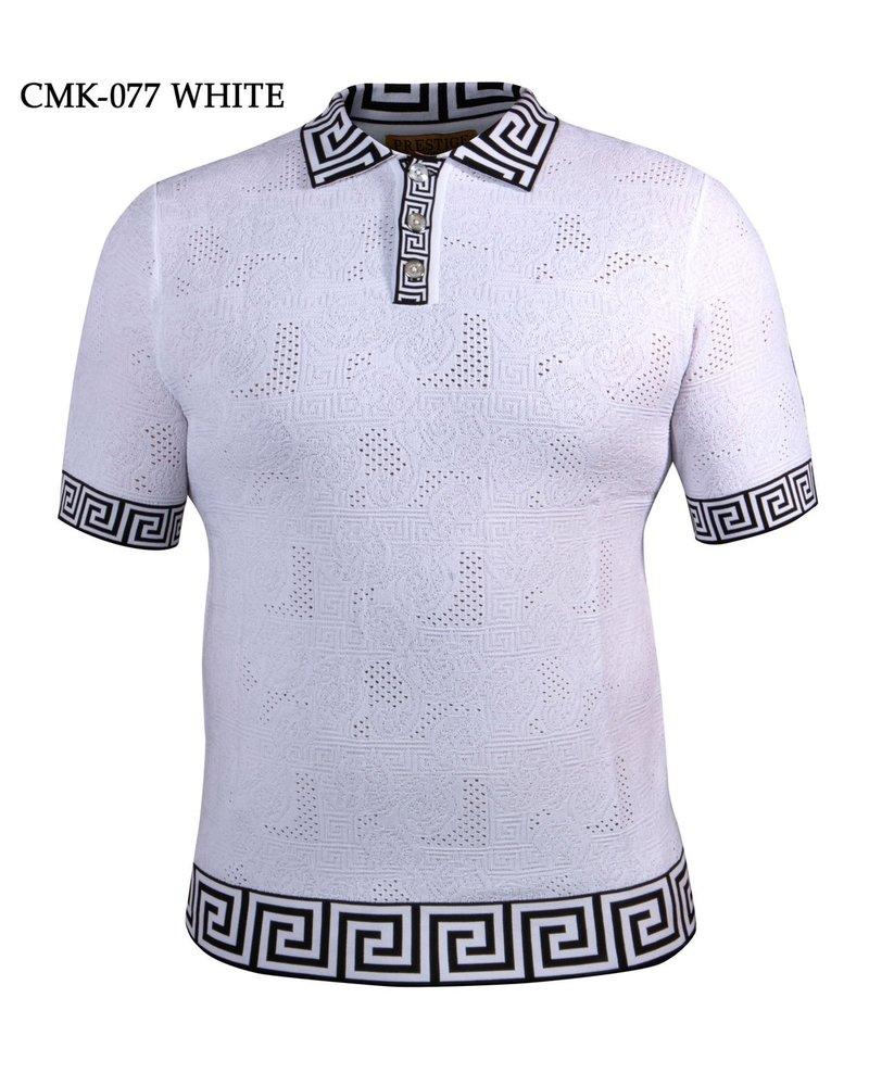 Prestige S/S Greek Rib Polo Knit