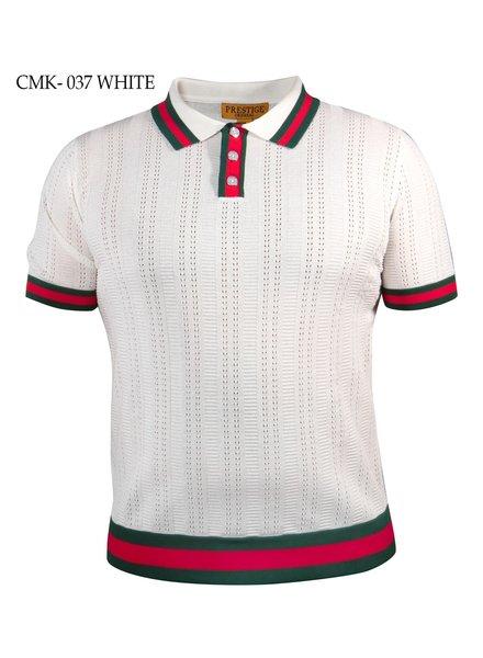 Prestige Polo Knit W/Web Design