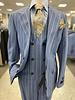 Tiglio Prosecco Gaberdine Vested Pinstripe Suit