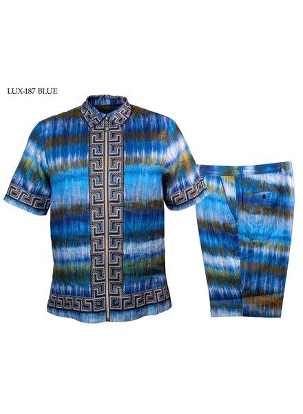 Prestige S/S Full Zip Linen Short Set