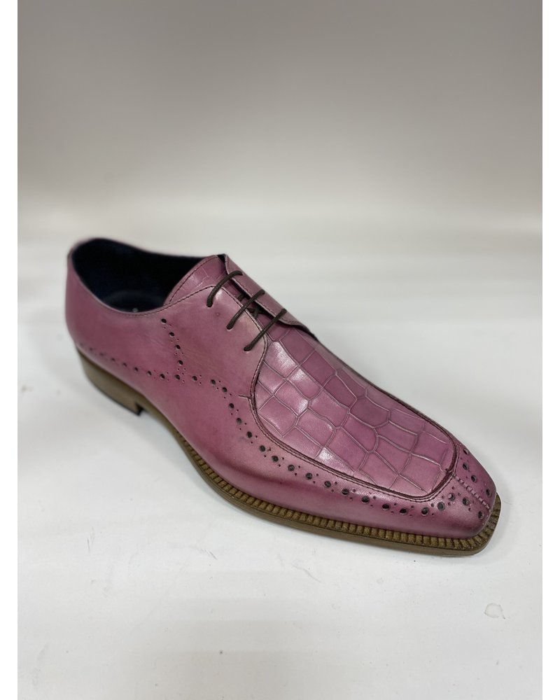 Duca Croc Print Leather Shoe