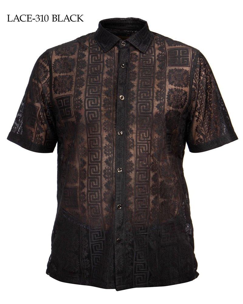 Prestige S/S Lace Jacquard Shirt (Solid)