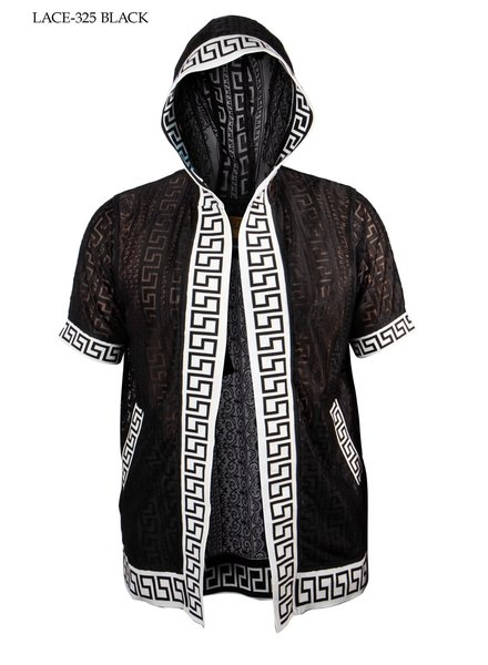 Prestige Hooded Jacquard Lace Shirt