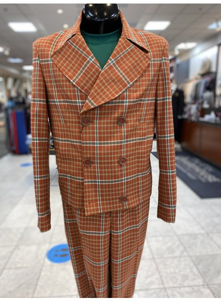 Lanzino D/B Short Jacket Window Pane Suit