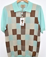 Cigar Geometric Polo Knit Shirt