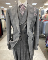 Tiglio Vested Window Pane Suit (New Rosso)
